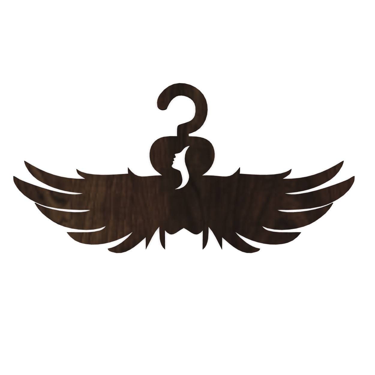 Laser Cut Angel Wings Clothes Hanger Free Vector