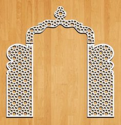 Laser Cut Decorative Wedding Panel Free Vector