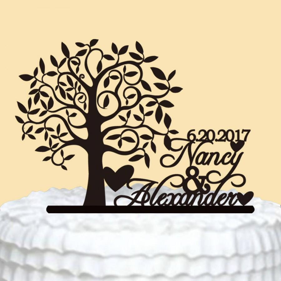 Laser Cut Personalized Wedding Cake Topper Free Vector