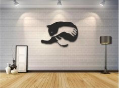 Laser Cut Cat Wall Art Free Vector