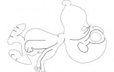 Snoopy Cartoon dxf File
