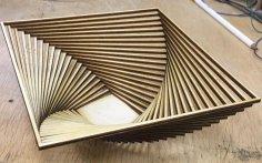Laser Cut Decor Wooden Basket DXF File