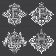 Doodles Font Ornamental Floral Letters Free Vector