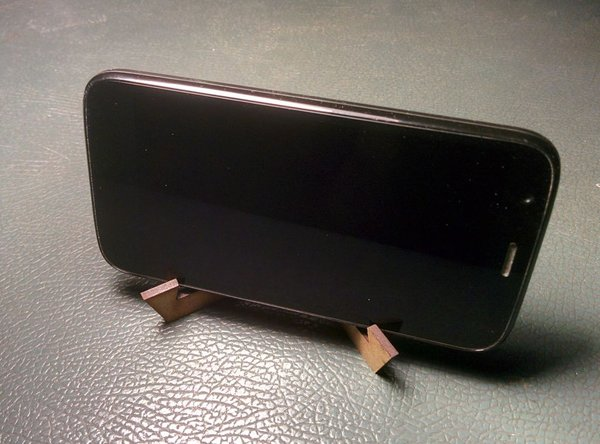 Lasercut Phone Stand DWG File