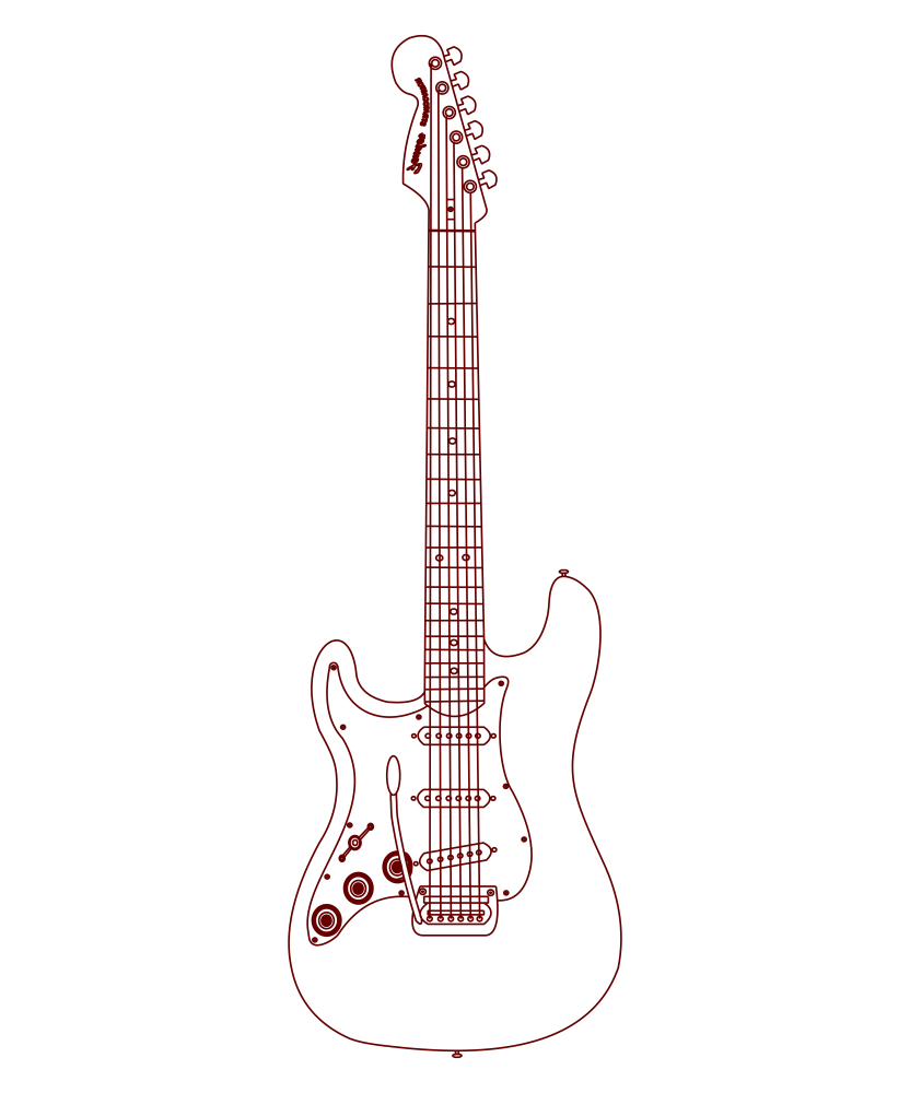 Bass Guitar DXF File
