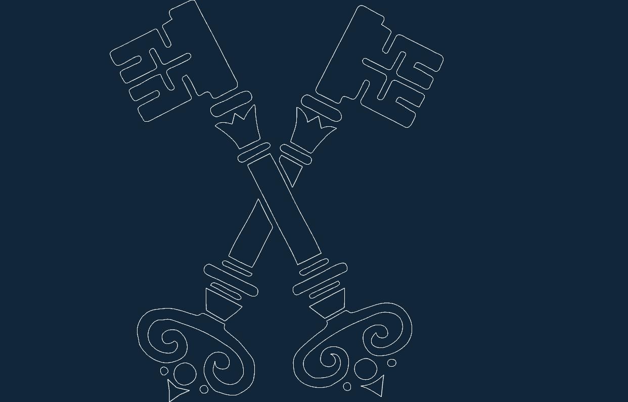 Old Keys dxf file