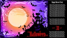 Typography Halloween Party Flyer Free Vector