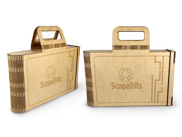 Laser Cut Scopabits Case SVG File
