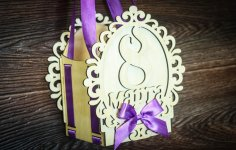 Laser Cut Decoration For Women Day 8 March Gift Box Free Vector