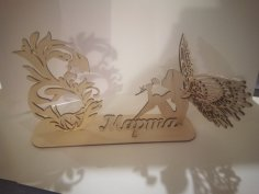 Laser Cut Angel Figurine 8 March Womens Day Gift Free Vector
