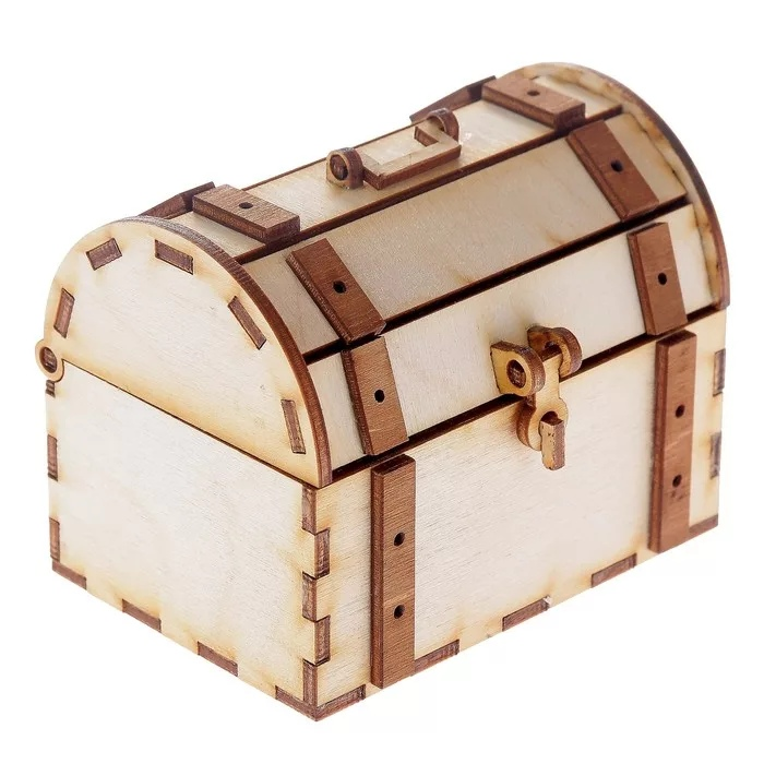 Laser Cut Wooden Chest With Lock And Hook Template Free Vector