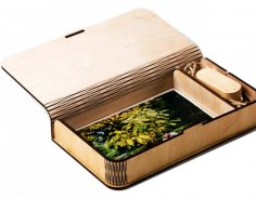 Laser Cut Gift Box For Photos And Flash Drive Free Vector