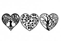 Laser Cut Valentine Day Decoration Ideas Heart  Free Vector