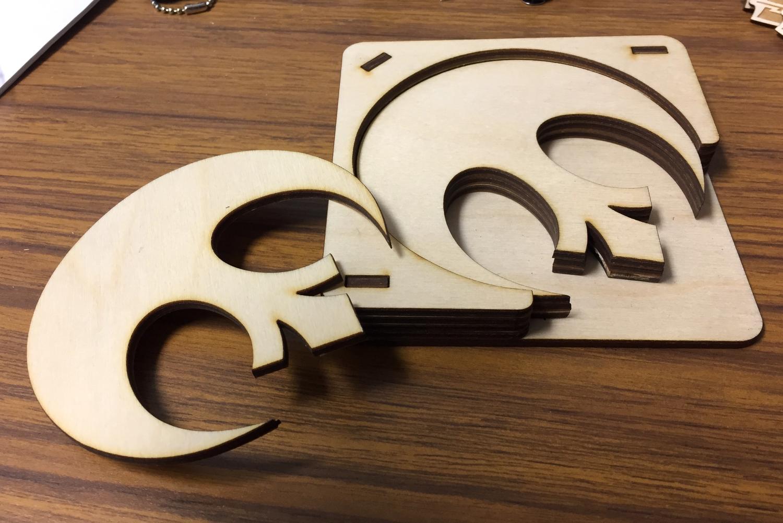 Laser Cut Star Wars Rebel Alliance Logo Coasters With Holder SVG File