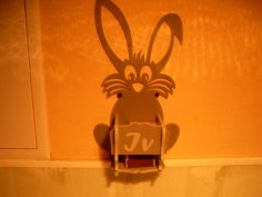 Laser Cut Bunny Match Holder Wall Box For Kitchen 4mm Free Vector