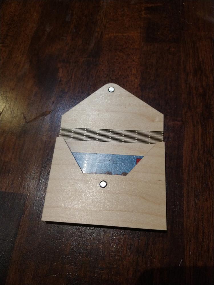 Laser Cut Gift Card Envelope Holder Template SVG File