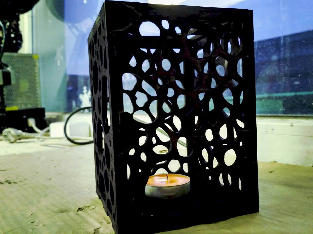 Plywood Lamp Candle Lantern Laser Cut Template DXF File