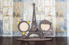 Laser Cut Eiffel Tower Photo Frame Free Vector