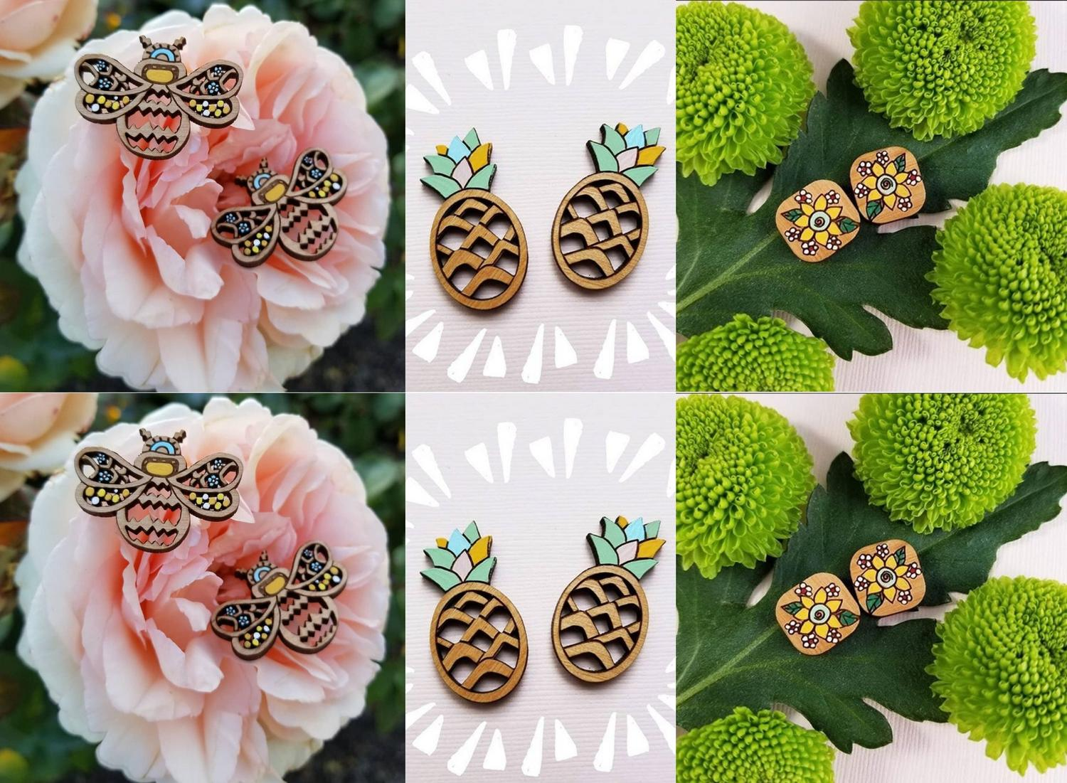 Earrings Jewelry Laser Cutting Templates Free Vector