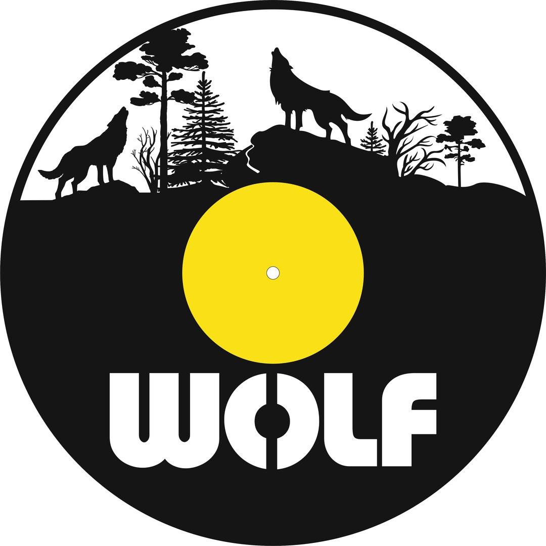 Laser Cut Wolf Vinyl Record Clock Template Free Vector