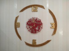 Laser Cut Decorative Round Clock Template Free Vector