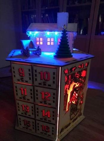 Laser Cut Christmas Calendar Advent Calendar Free Vector