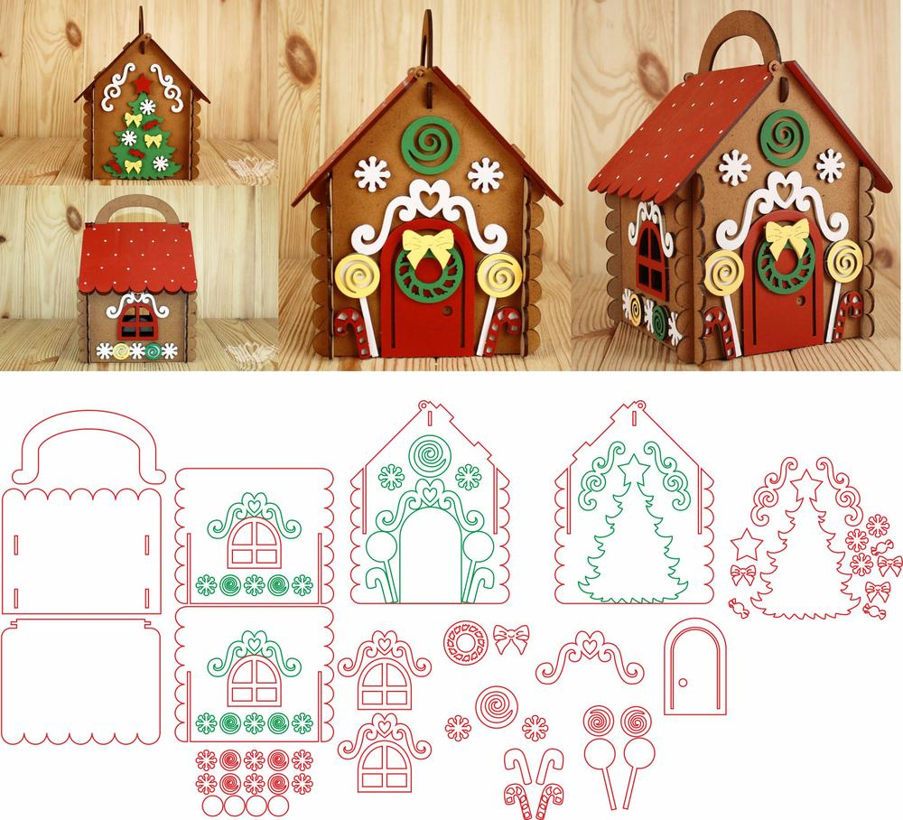 Laser Cut Gingerbread House Free Vector