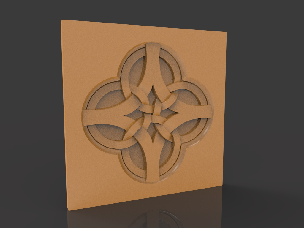 Wall Panel 3D Stl Model For CNC Router Stl File