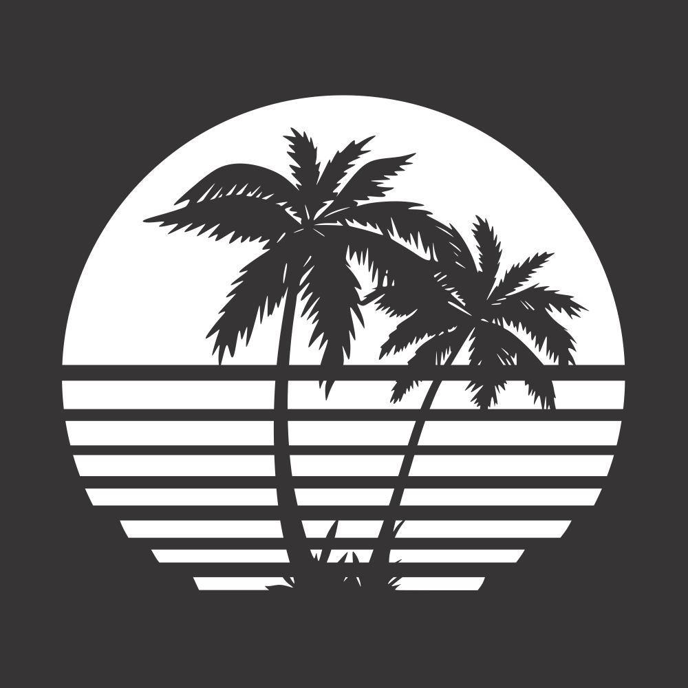 Palm Tree Vector for Laser Cutting Free Vector