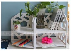 Laser Cut Book Storage Drawer Display Shelf Rack Free Vector