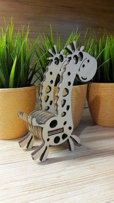 Laser Cut Giraffe Phone Stand DXF File
