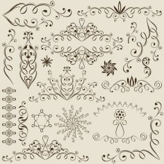 Swirl Vine Elements Free Vector