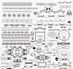 Floral Decorative Ornaments Free Vector