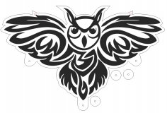 Owl Laser Cut Free Vector