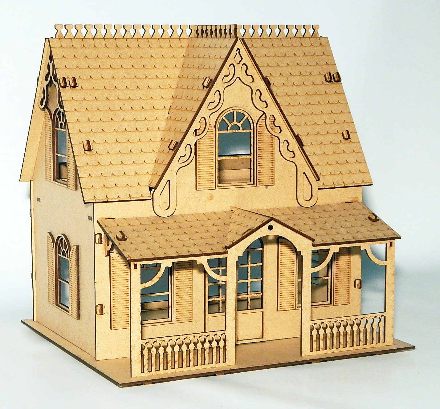 House Laser Cut Free Vector