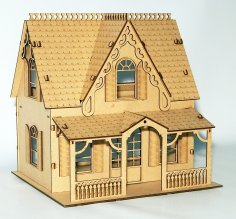 Laser Cut Doll House Patterns Free Dxf Files Vectors 3axis Co