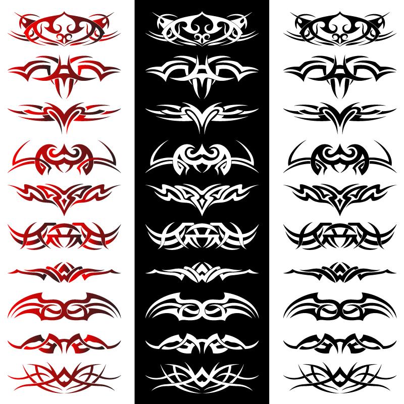 Tribal Tattoo Artwork Vectors Free Vector