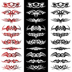 Tribal Tattoo Artwork Vectors Free Vector