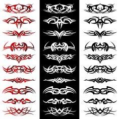 Tribal Tattoo Artwork Vectors EPS File
