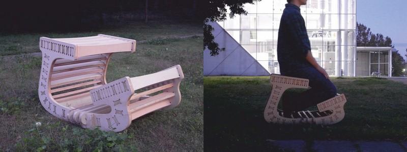Kneeling Chair DXF File
