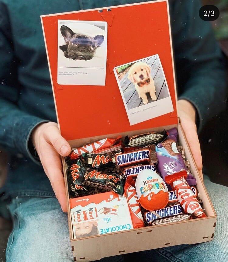 Laser Cut Christmas Chocolate Box 200x200x100 SVG File