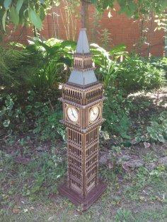 Laser Cut London Big Ben 3D Wood Model Free Vector