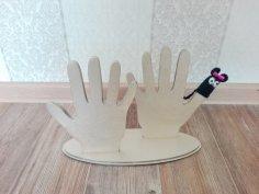 Laser Cut Finger Puppet Stand Free Vector