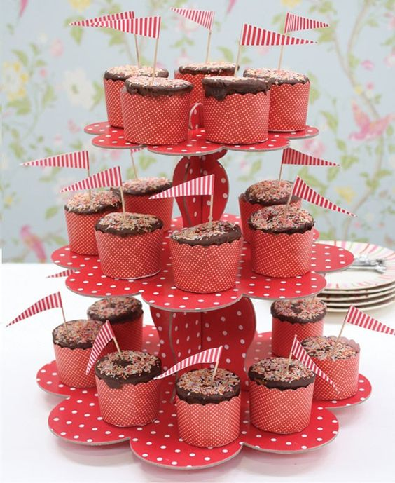 Laser Cut 3 Tiers Cupcake Stand Wedding Birthday Party Decoration Free Vector