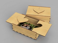 Laser Cut Wooden Photo Box 3mm Free Vector