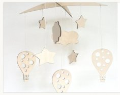Laser Cut Baby Crib Mobile Hanging Baby Mobile Free Vector