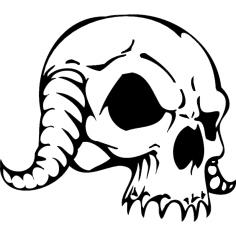 Skull 086 dxf File
