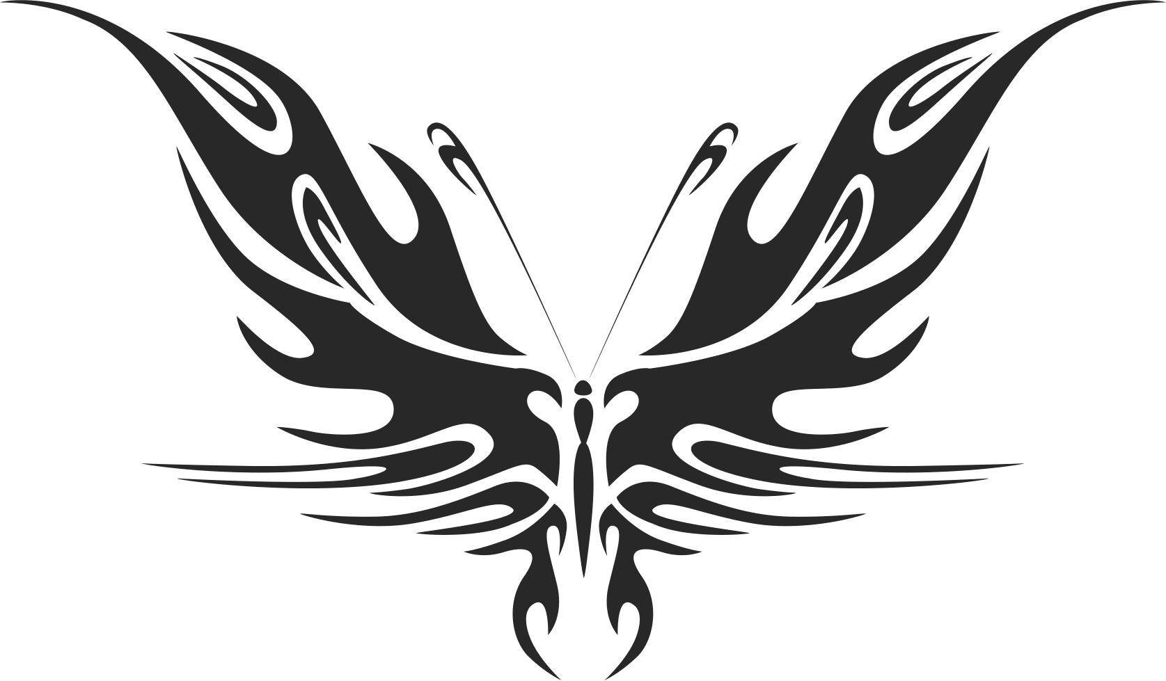 Tribal Butterfly Vector Art 44 DXF File