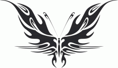 Tribal Butterfly Vector Art 44 DXF File