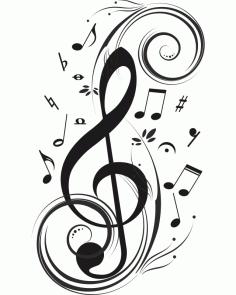 音乐音符素材 CDR File